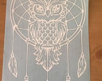 Owl Dreamcatcher Decal