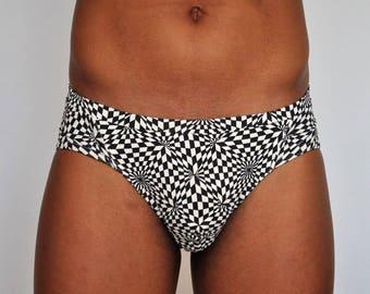 swimsuit slip / speedo with push-up inside Kaleidoscope, made in BARCELONA