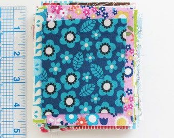 Quilting Cotton Print Fabric Scraps | 2 Ounce Grab Bag of Small Fabric Pieces for Patchwork Doll Clothes EPP Fabric Beads