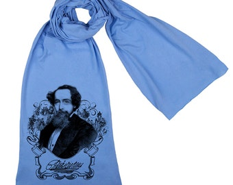 Charles Dickens Screen printed Unisex Cotton Scarf