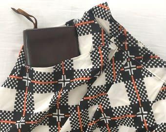 Plaid Pockets Maxi Long Skirt