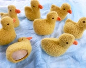 Duck and egg set felted wool duck with wood egg ready to ship