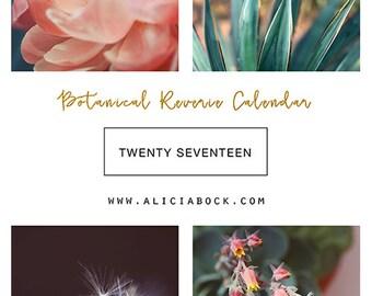 Desk Calendar - 2017 Calendar - Botanical Reverie - Monthly Calendar - Floral Calendar - Office Decor - Flower Art - Housewarming Gift - Art