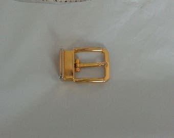 Goldtone Belt Buckle Metal Sewing Supply Made in Italy
