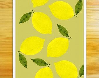 Lemons - 8x10 Art Print