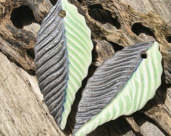 Handmade Porcelain Leaf Set