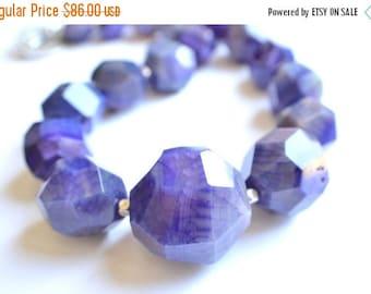 FLASH SALE The Gemma- Purple Agate Chunky Necklace