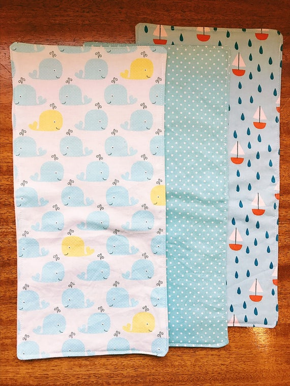 Sailing Burp Cloths, Baby Burp Cloths, Burp Cloth Set, Boy Burp Cloth Set, Baby Shower Gift, Cotton Burp Cloth