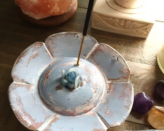 30% Off Blue Kyanite Crystal Incense Burner