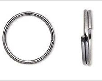 50 Silver Plated Split Rings 10mm Very Strong