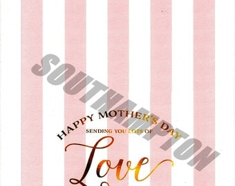 Mother's Day Card Printable  3 Sizes