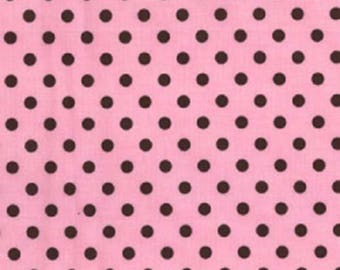 CLEARANCE LAST PIECE - Michael Miller Dumb Dot Pink Fabric