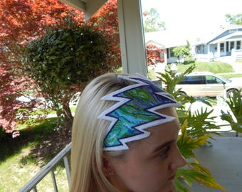 Grateful Dead Lighting Bolt Headband, Extra Large Bolt,  Hippie clothes, festival clothes, hair band, headwrap, Adult headband