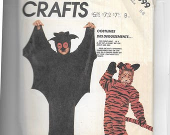McCalls Bat and Cat Costume Pattern 3399