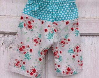 SALE- Whimsies Baby Loungers-Eco Friendly Pants-Floral