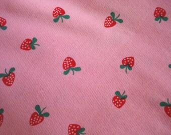 Sweet Strawberry Print Sweatshirt Fabric