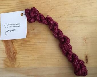 Guinevere - eponymous sock yarn, fingering weight yarn mini skein