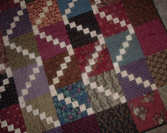 Multicolor Stairways Quilt 53 x 66 inches