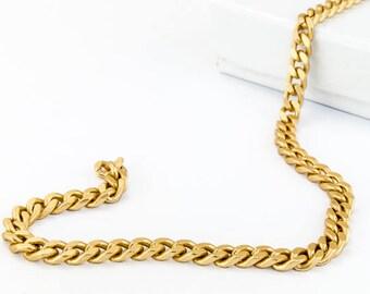 4.5mm x 4mm Matte Gold Flat Curb Chain #CC95