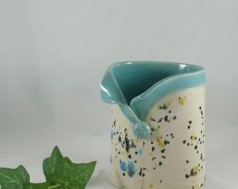 Pottery Pen Holder, Flower Vase, Pencil Holder,  handmade ceramic pump soap dispenser, lotion / toothbrush holder, bathroom office decor 805