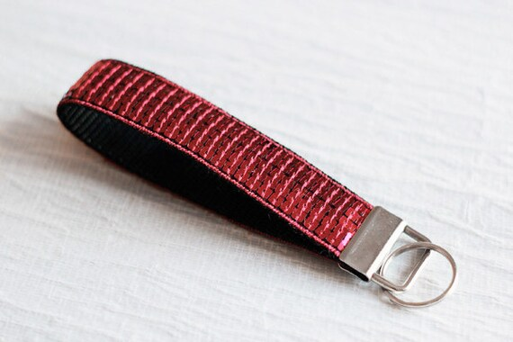 Keychain wristlet - Paillettes - Dark Red