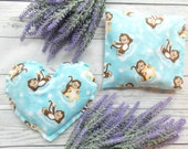 Microwave Rice Bags - Rice Heat Pads - Rice Bags - Flax Seed Bags - Hot Cold Packs - Valentines Gifts for Kids - Monkey Gift - Rice Pack Pad