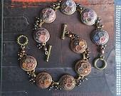 peace garden parade - pearl charm bracelet