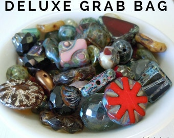 Loose Beads, Czech Beads, Glass Beads, Beads in Bulk Czech Picasso Bead Mix - Picasso Bead Grab Bag 30 Gram Premium Picasso Bead Assortment