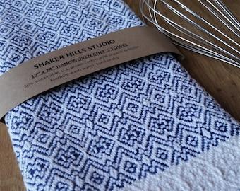 Royal Blue Kitchen Towel Handwoven Sustainable Organic Cotton Linen