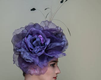 Purple Rose Kentucky Derby Hat