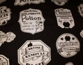 RESERVED for Katherine Aguilo HP Potion Labels Custom Cotton/Lycra Knit Infinity Scarf