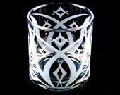 Etched Windsor Diamonds 13oz tumbler glass
