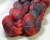 CLEARANCE Yarn Hollow Tor DK Merino Superwash Hand Dyed Yarn Smoke and Fire Multi Color DK 4 ounces 280 yards