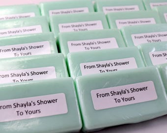 60 Custom Mini Soap Bars, Shower Favors, Party Favors, Small Gifts