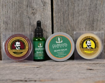 Beard Grooming Kit - Beard Oil, Beard Balm, Two Shaving Soaps