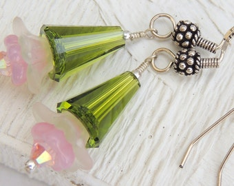 SPRING BLOOMS Handmade Dangle Earrings