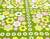 alice apple fabric Daisy Power in Olive Green - 35cm x 25cm