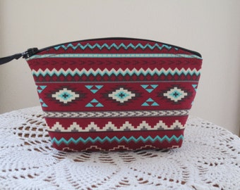 Aztec Tribal Bohemian Southwestern Cosmetic Bag Clutch Purse Essentail Oils Case  Bridal Bridesmaid Gift