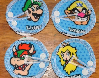 Tubie Button Cushions - Mario Theme. Set of THREE.