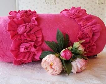 Pink Pillow - Soft, Shabby, Ruffles