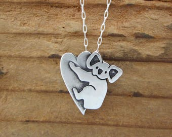 Sterling Koala Necklace - Cute Silver Koala Pendant