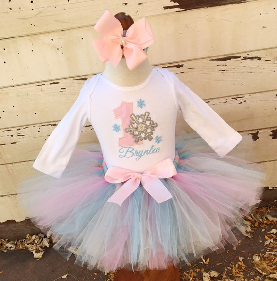 Winter Onederland 1st Birthday Tutu Outfit by PartyDecorandMoore