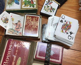 Lot of playing cards decks