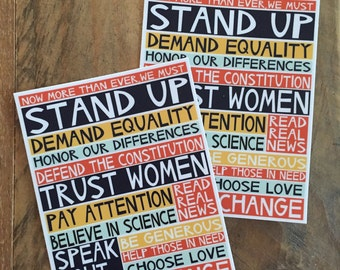 stand up - set of 2 stickers