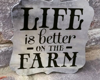 Life is Better on the Farm//Magnet