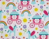 Michael Miller Happy Tones Rainbows and Unicorns  Fabric by the yard, Half Yard or Fat Quarter, #115