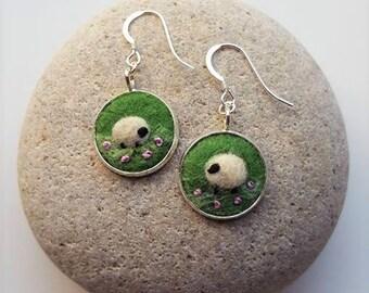 Sheep Earrings Felt