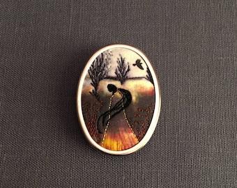 My Lady Brooch/Shawl Pin Series... My Lady #2