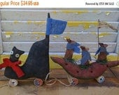 Welcome Spring Sale Primitive Cat and Mouse Parade