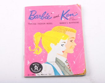 Barbie, Fashion, Vintage Book, 1950s Outfits, Dresses, Ken, Came With Dolls ~ The Pink Room ~ 170222